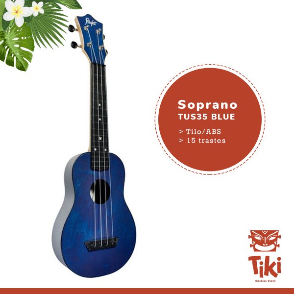 ukelele soprano flight tus35blue