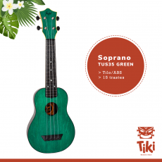 ukelele soprano flight tus35green